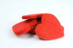 Pilha do coração de feltro Fotografia de Stock Royalty Free