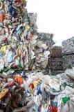 Pilha do desperdício classificado do plástico imagem de stock royalty free