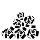 Pilha do desperdício isolada no fundo branco Imagem de Stock