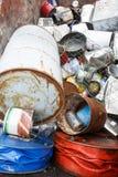 Pilha do desperdício metálico classificado fotografia de stock