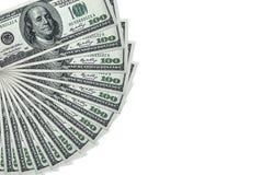 Pilha do dinheiro $100 contas de dólar Foto de Stock