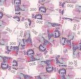 Pilha do dinheiro ucraniano, denominação de 200 UAH Fotografia de Stock Royalty Free