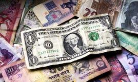 Pilha do dinheiro velho Fotos de Stock