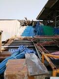 Pilha do equipamento de construção Fotografia de Stock