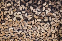 Pilha do estoque de madeira a queimar-se Imagens de Stock
