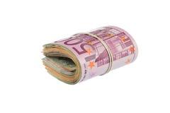 Pilha do Euro Foto de Stock