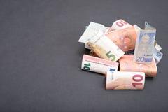 Pilha do euro- dinheiro Fotos de Stock