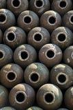 Pilha do frasco chinês do vinho imagens de stock