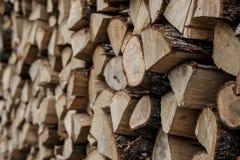 Pilha do fundo de madeira Foto de Stock Royalty Free