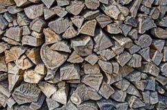 Pilha do fundo de madeira Fotografia de Stock