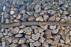 Pilha do fundo de madeira Fotografia de Stock Royalty Free