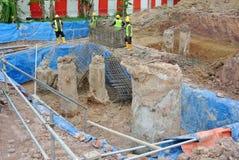 Pilha do furo e pilha escavada Fotografia de Stock