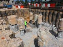 Pilha do furo e pilha escavada Imagem de Stock