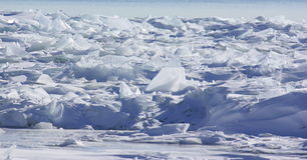 Pilha do gelo da geleira Imagens de Stock Royalty Free
