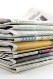 Pilha do jornal fotografia de stock