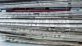 Pilha do jornal Foto de Stock Royalty Free