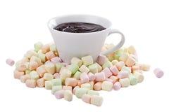 Pilha do marshmallow colorido Imagens de Stock Royalty Free
