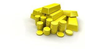 Pilha do ouro ilustração stock