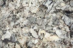 Pilha do papel ondulado queimado Fotografia de Stock