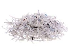 Pilha do papel shredded Imagens de Stock