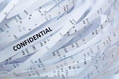 Pilha do papel shredded - confidencial fotos de stock royalty free