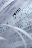 Pilha do papel shredded - privacidade fotos de stock