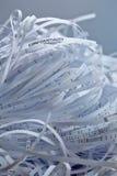 Pilha do papel shredded - segredo imagens de stock