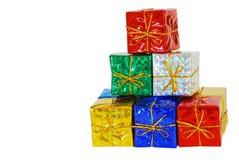 Pilha do presente de Natal fotos de stock royalty free