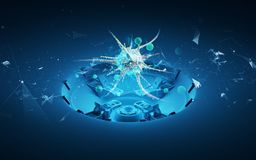 Pilha do vírus do holograma 3d Imagem de Stock Royalty Free
