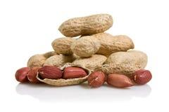 Pilha dos amendoins Foto de Stock
