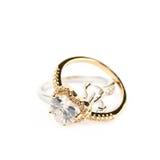 Pilha dos anéis dados forma coração isolados Imagens de Stock Royalty Free
