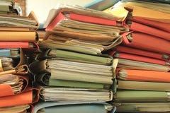 Pilha dos arquivos imagens de stock