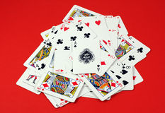 Pilha dos cartões de jogo Imagem de Stock
