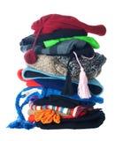 Pilha dos chapéus do inverno | Isolado Fotografia de Stock Royalty Free