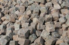 Pilha dos cobblestones Fotos de Stock