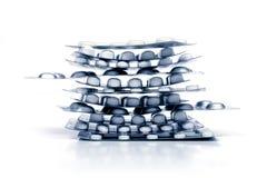 Pilha dos comprimidos Foto de Stock