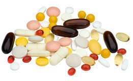 Pilha dos comprimidos foto de stock royalty free