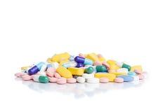 Pilha dos comprimidos imagens de stock royalty free
