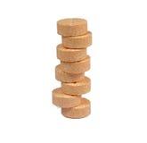 Pilha dos comprimidos da vitamina C Fotografia de Stock Royalty Free