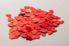 Pilha dos corações Fotografia de Stock Royalty Free