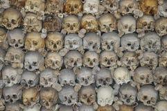 Pilha dos crânios imagens de stock