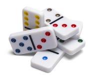 Pilha dos dominós Foto de Stock