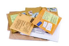 Pilha dos envelopes Fotografia de Stock