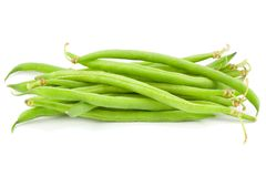 Pilha dos feijões verdes Fotografia de Stock