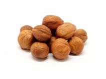 Pilha dos hzelnuts - detalhe fotos de stock royalty free