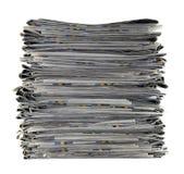 Pilha dos jornais Fotografia de Stock Royalty Free