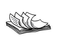 Pilha dos Livros Brancos, estilo tirado mão, vetor Fotos de Stock Royalty Free