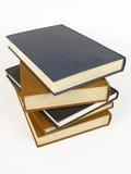 Pilha dos livros encadernados de couro Imagem de Stock