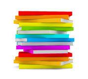 Pilha dos livros isolados no fundo branco Imagens de Stock