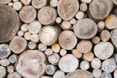 Pilha dos logs de madeira Imagem de Stock